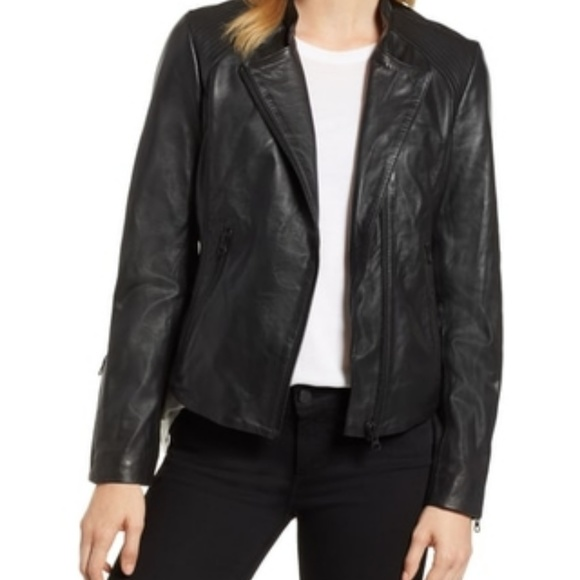 most fashionable on sale clearance Halogen | Black Leather Jacket